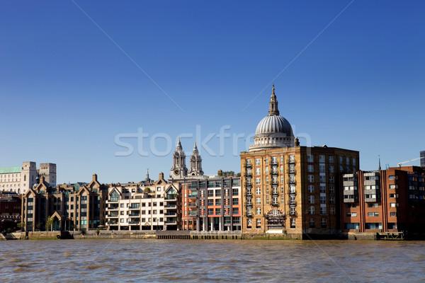 Foto stock: Londres · ver · rio · edifícios · sul