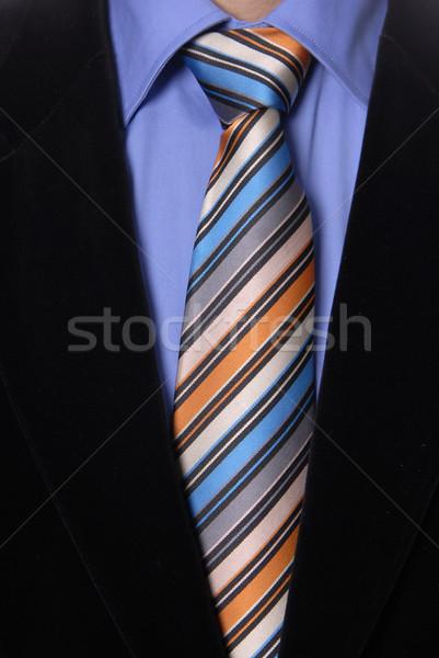 Amarrar pormenor homem de negócios terno negócio Foto stock © zittto