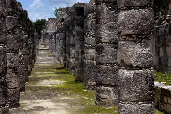 Чичен-Ица древних храма подробность здании путешествия Сток-фото © zittto