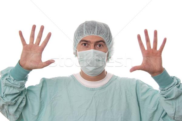 Mannelijke verpleegkundige jonge geïsoleerd witte gezondheid Stockfoto © zittto