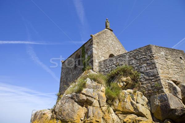 święty kaplica niebo architektury religii skał Zdjęcia stock © zittto