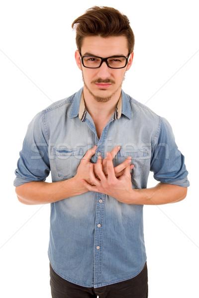 chest pain Stock photo © zittto