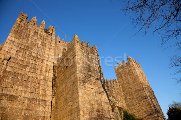 Kale ev ilk kral yer Portekiz Stok fotoğraf © zittto