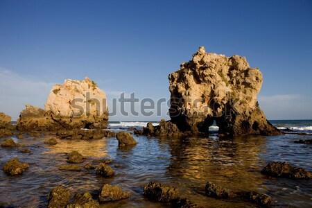 ストックフォト: ビーチ · 南 · 国 · 水 · 海 · 青