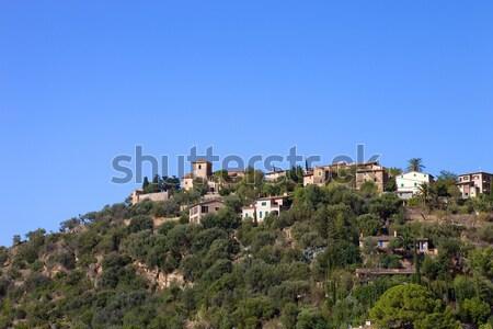Pittoresque historique village montagnes majorque Espagne Photo stock © zittto