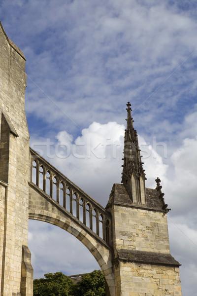 Katedral detay Fransa gökyüzü bahar Stok fotoğraf © zittto