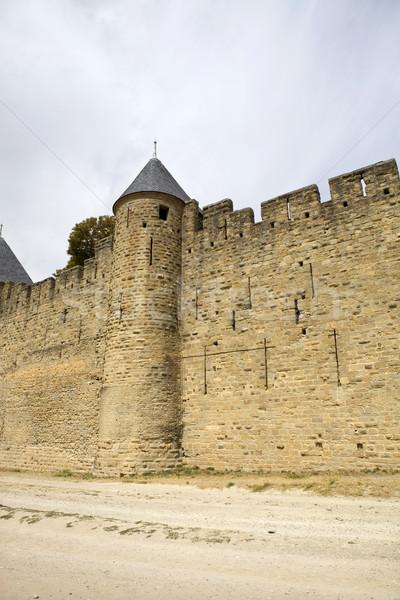 Eski takviye güney Fransa güvenlik mavi Stok fotoğraf © zittto