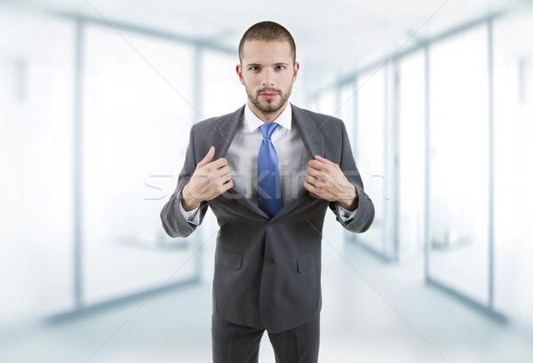 Iş adamı genç portre ofis yüz adam Stok fotoğraf © zittto
