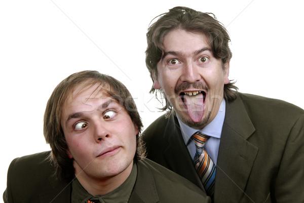 Dom twee jonge zakenmannen portret witte Stockfoto © zittto