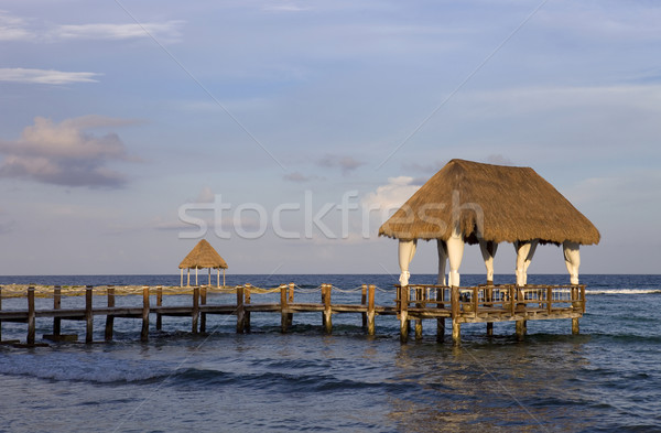 wooden dock Stock photo © zittto