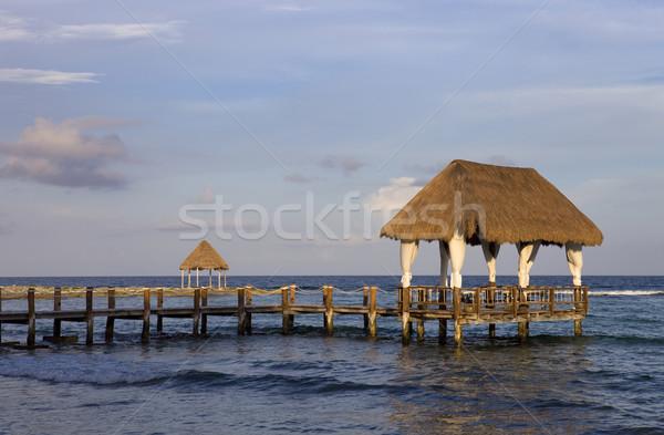 Stock photo: wooden dock