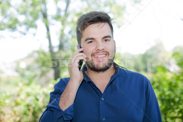 man on the phone Stock photo © zittto