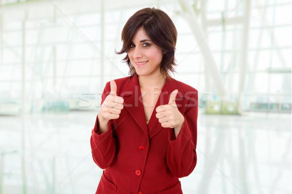 Remek fiatal üzletasszony portré iroda boldog Stock fotó © zittto