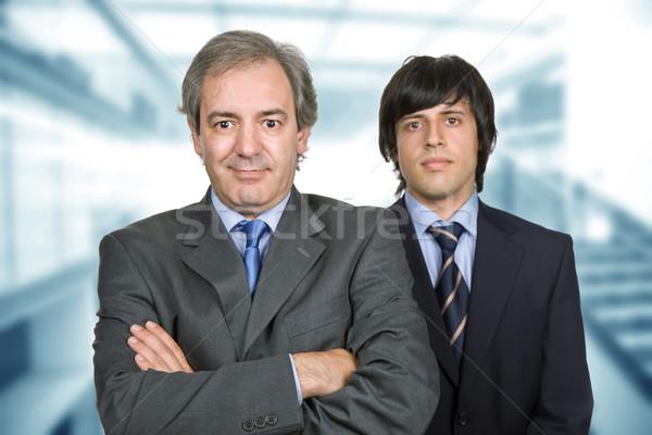 Işadamları iki genç iş adamı ofis odak Stok fotoğraf © zittto