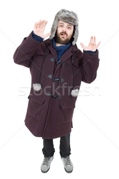 Bobo homem jovem casual isolado Foto stock © zittto