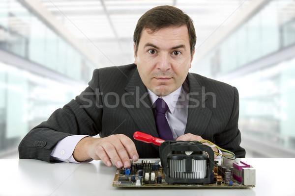 マザーボード コンピュータ エンジニア 作業 オフィス ビジネス ストックフォト © zittto