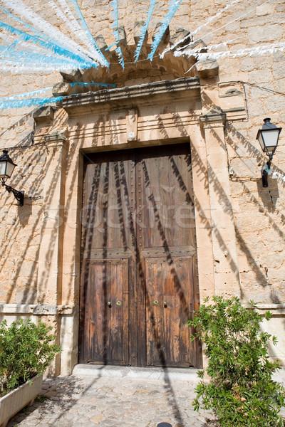 church of valldemossa Stock photo © zittto