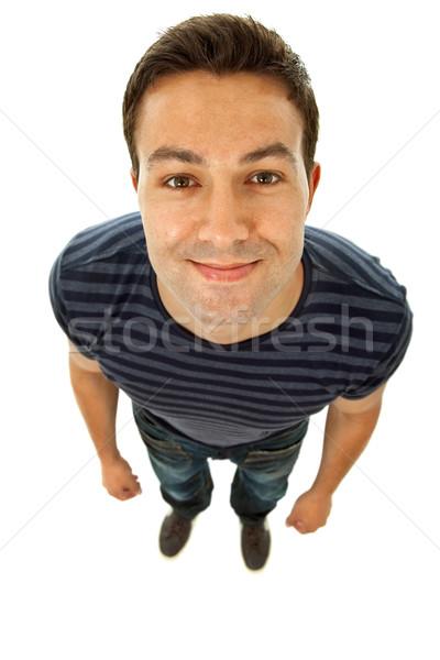 Сток-фото: глупый · молодые · случайный · человека · изолированный
