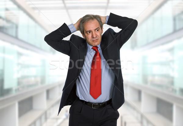 頭痛 ビジネスマン スーツ ジェスチャー ビジネス 手 ストックフォト © zittto