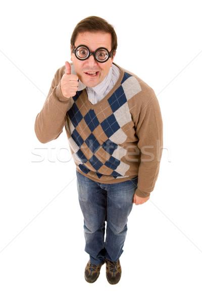 Geek nauczyciel odizolowany moda portret Zdjęcia stock © zittto