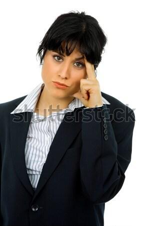 Baş ağrısı iş kadını takım elbise iş el Stok fotoğraf © zittto