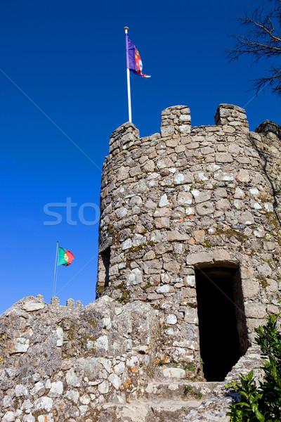 Kasteel dorp hemel gebouw bouw muur Stockfoto © zittto
