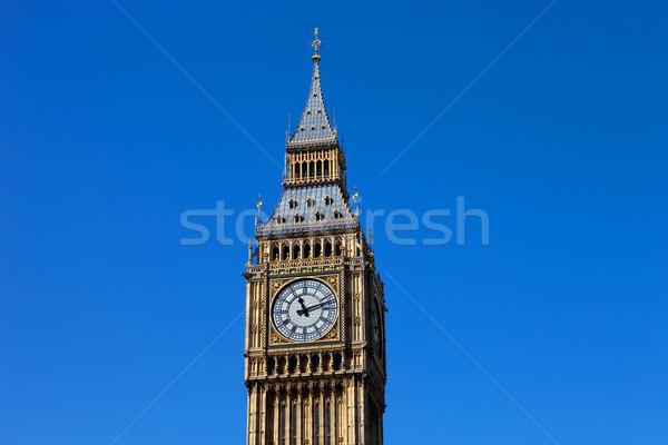 Big Ben horloge Londres westminster ville bleu Photo stock © zittto