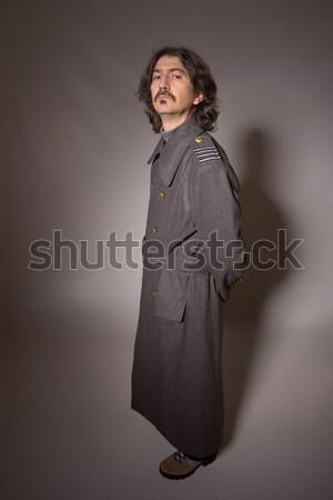 Ruso militar hombre rojo retro Foto stock © zittto