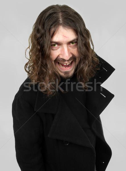 Vámpír fiatalember arc férfi művészet halál Stock fotó © zittto