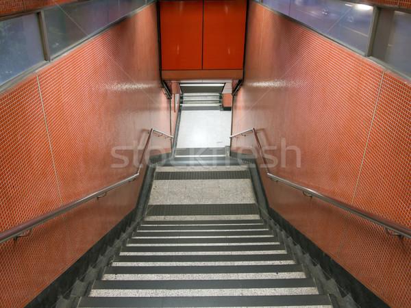 Modern şehir yeraltı yaya Stok fotoğraf © zkruger