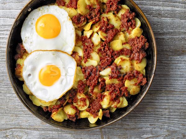 Rustiek rundvlees hart aardappel maaltijd Stockfoto © zkruger