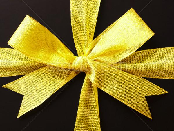 gift box gold ribbon Stock photo © zkruger