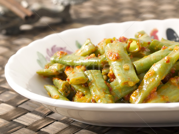 long beans in chili shrimp paste Stock photo © zkruger