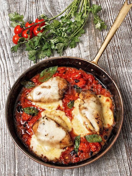 rustic baked italian pollo margarita chicken Stock photo © zkruger