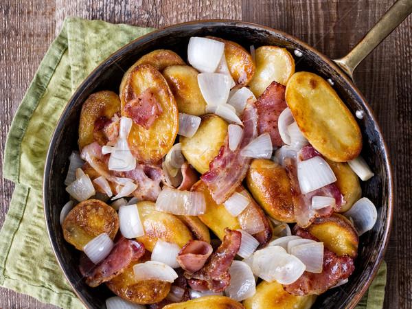 Rustiek home frietjes vet plantaardige Stockfoto © zkruger