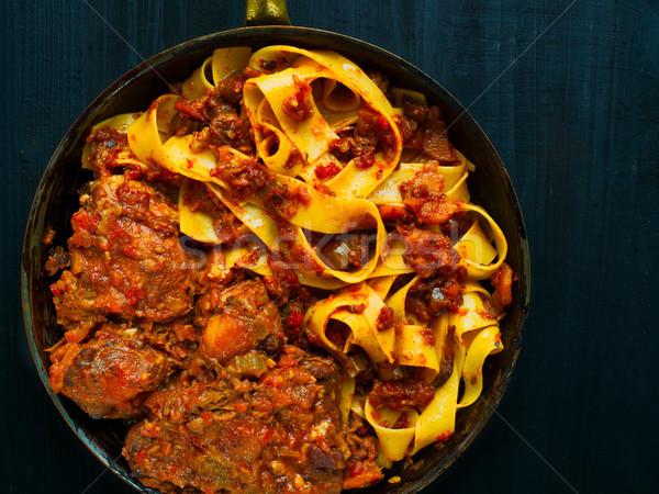 Rustico italiana pasta cuore carne Foto d'archivio © zkruger