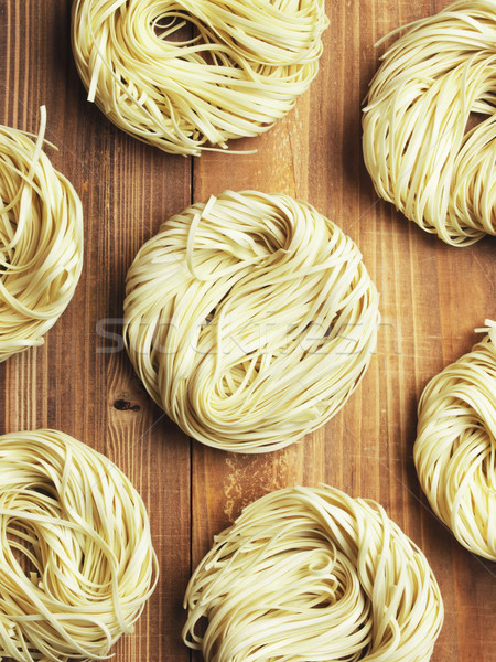 Stock photo: raw egg noodles