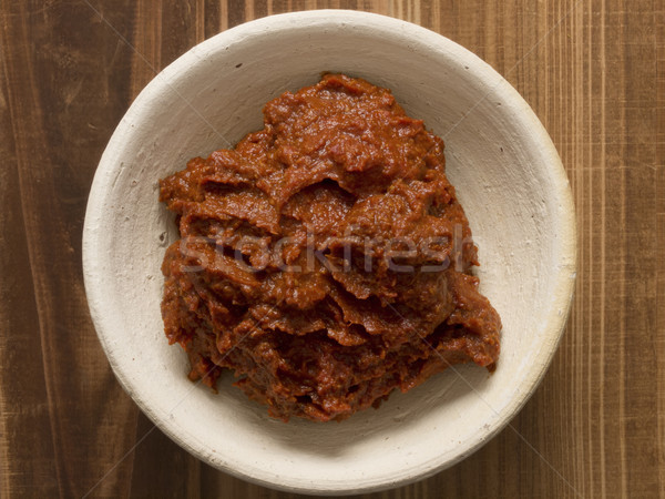 indian red curry paste Stock photo © zkruger