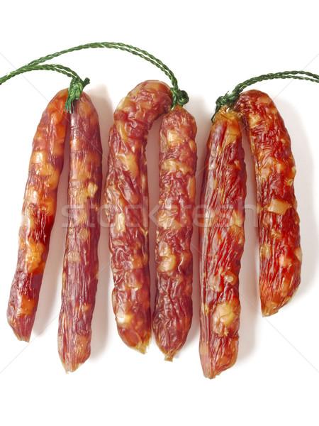 Grassi cinese carne di maiale salsicce alimentare Foto d'archivio © zkruger
