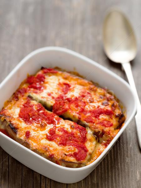 italian baked aubergine Stock photo © zkruger
