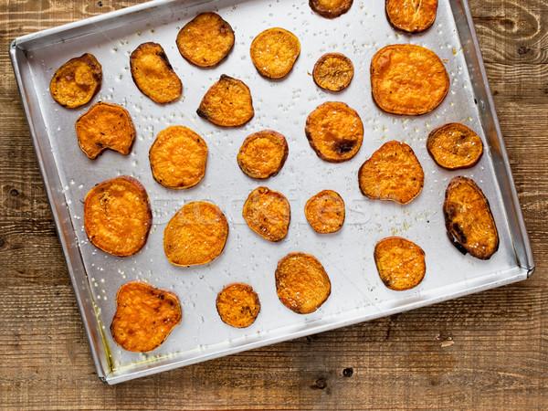 Rustico patata dolce chip vegetali Foto d'archivio © zkruger