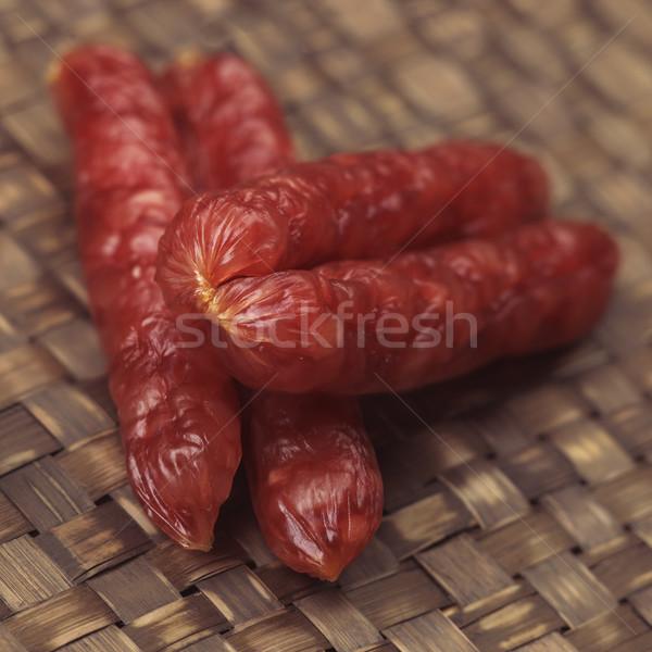 中国語 ソーセージ 食品 色 脂肪 ストックフォト © zkruger