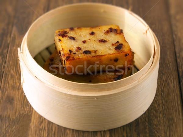 fried carrot cake Stock photo © zkruger