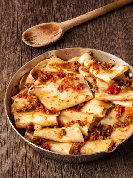 Foto d'archivio: Rustico · italiana · pasta · salsa · alimentare