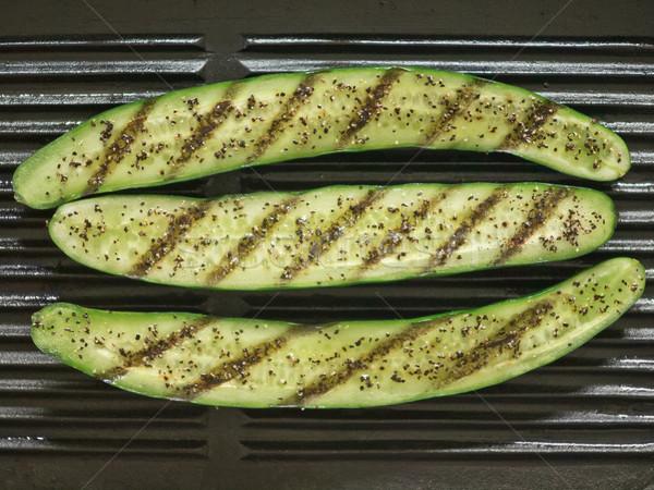 Gegrillt Zucchini Essen Gemüse Stock foto © zkruger