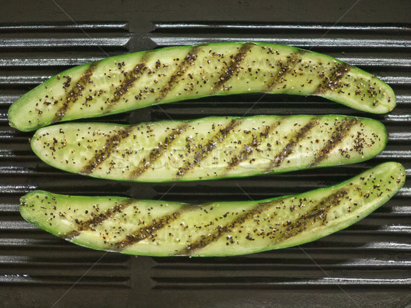 Gegrild courgette voedsel plantaardige Stockfoto © zkruger