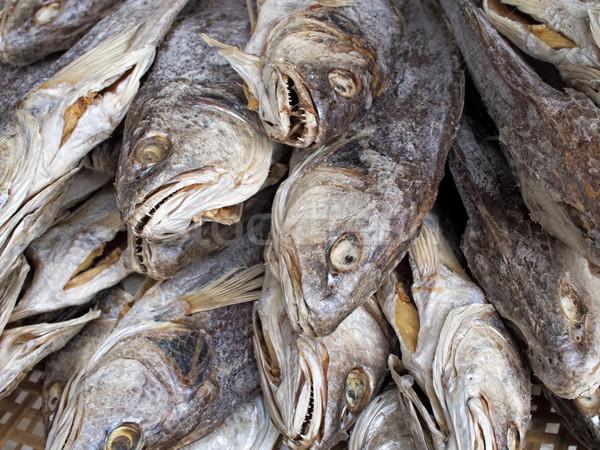 Rustiek chinese gezouten vis voedsel Stockfoto © zkruger