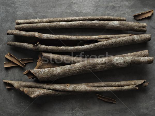 Rusztikus fahéj ugatás közelkép étel gyógyszer Stock fotó © zkruger