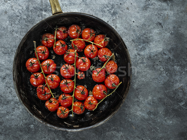 rustic roasted red summer cherry tomato  Stock photo © zkruger