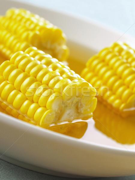 Mais soep kom voedsel diner Stockfoto © zkruger